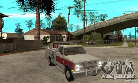 Chevrolet Silverado - utility for GTA San Andreas back view