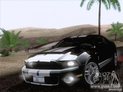Ford Shelby Mustang GT500 2010 for GTA San Andreas wheels