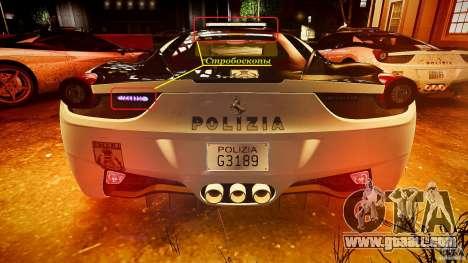 Ferrari 458 Italia - Brazilian Police [ELS] for GTA 4 engine