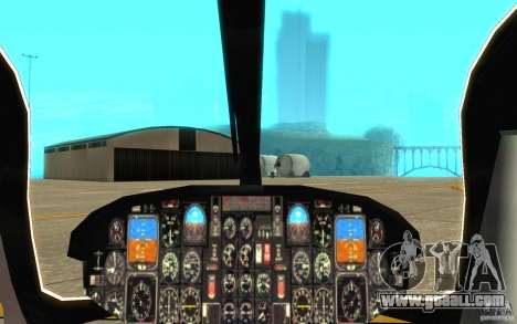 NYPD Eurocopter By SgtMartin_Riggs for GTA San Andreas inner view