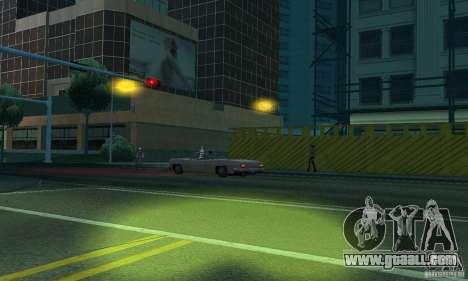 Yellow headlights for GTA San Andreas sixth screenshot