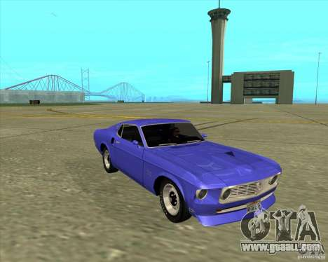 Ford Mustang Boss 429 1969 for GTA San Andreas back left view