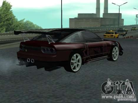 Nissan 240 SX for GTA San Andreas back left view