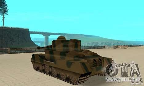 RL-Tiger Tank for GTA San Andreas back left view