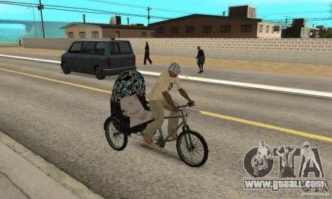 Manual Rickshaw v2 Skin3 for GTA San Andreas right view