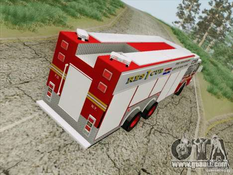 E-One F.D.N.Y Fire Rescue 1 for GTA San Andreas inner view