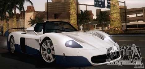 Maserati MC12 V1.0 for GTA San Andreas interior