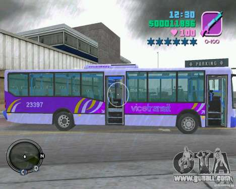 Marcopolo Bus for GTA Vice City back view