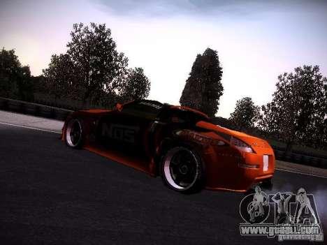 Nissan 370Z Chris Forsberg for GTA San Andreas back left view
