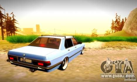 BMW E28 525e RatStyle No1 for GTA San Andreas back view