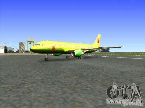Airbus A-320 S7Airlines for GTA San Andreas left view