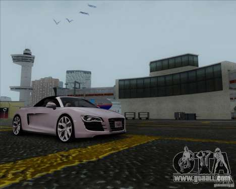 Audi R8 Spyder for GTA San Andreas left view
