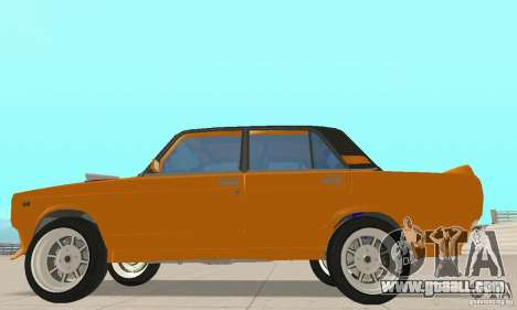 VAZ 2107 Off Road for GTA San Andreas back left view