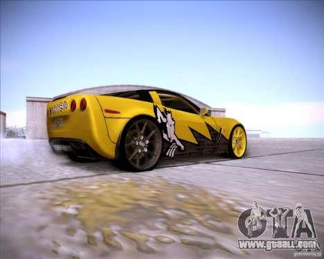 Chevrolet Corvette C6 super promotion for GTA San Andreas right view