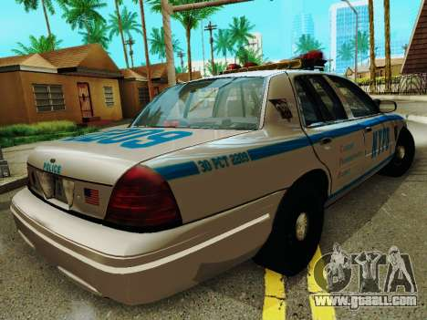 Ford Crown Victoria 2003 NYPD White for GTA San Andreas right view