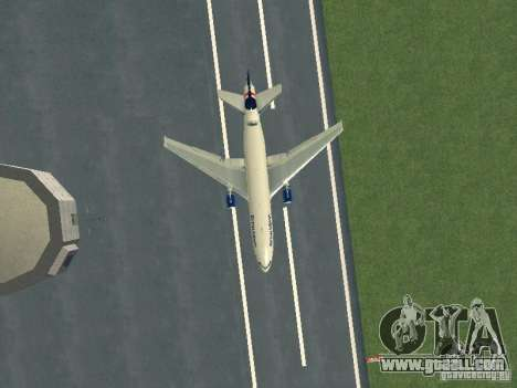 McDonell Douglas DC10 British Airways for GTA San Andreas inner view