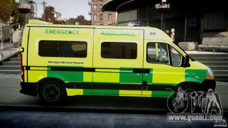 Renault Master 2007 Ambulance Scottish for GTA 4 inner view