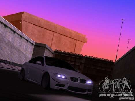 BMW M3 E92 Drift for GTA San Andreas back left view