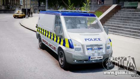 Ford Transit Polish Police [ELS] for GTA 4 right view