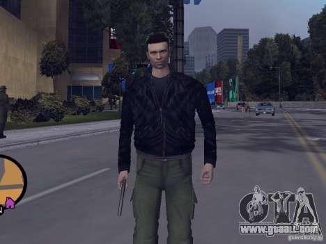 Claude HD from GTA III for GTA Vice City