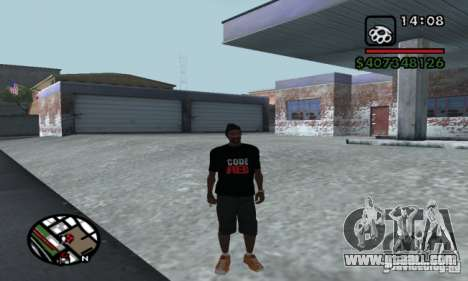 T-shirt codered for GTA San Andreas