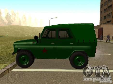 UAZ 469 Military for GTA San Andreas left view