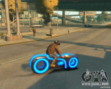 Motorcycle of the Throne (blue neon) for GTA 4 left view