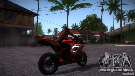 Ducati 1098 for GTA San Andreas right view