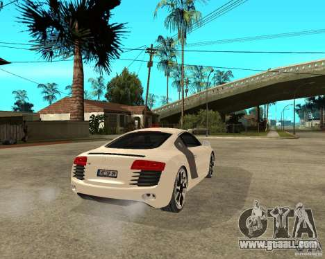 Audi R8 light tunable for GTA San Andreas back left view