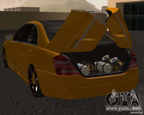 Mercedes Benz S600 Panorama by ALM6RFY for GTA San Andreas back left view