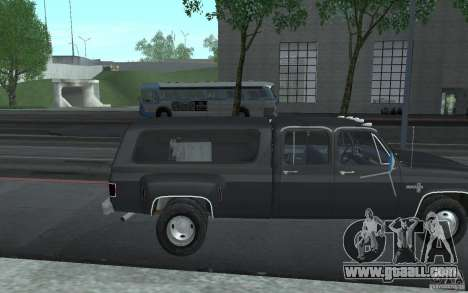 Chevrolet Silverado 3500 for GTA San Andreas upper view