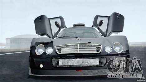 Mercedes-Benz CLK GTR Race Car for GTA San Andreas back left view