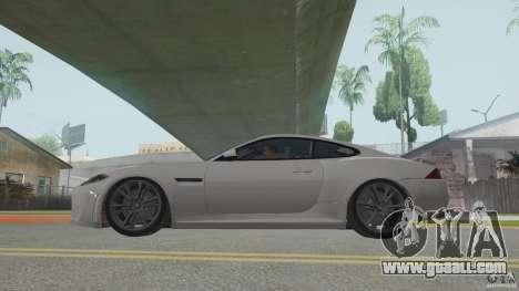 Jaguar XKR-S for GTA San Andreas back left view