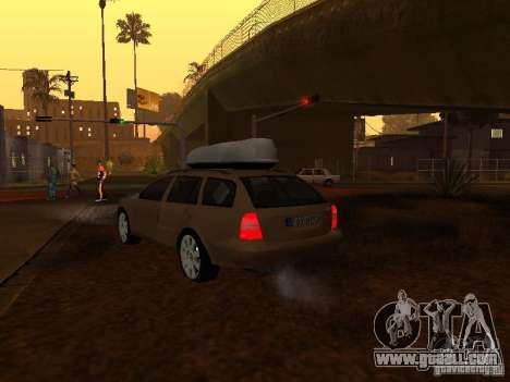 Skoda Octavia for GTA San Andreas engine