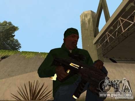 Pak Golden weapons for GTA San Andreas seventh screenshot