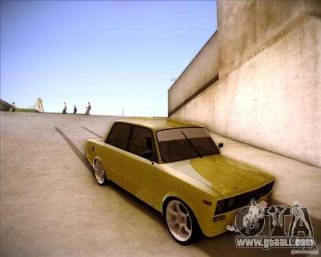 VAZ 2106 drift for GTA San Andreas inner view
