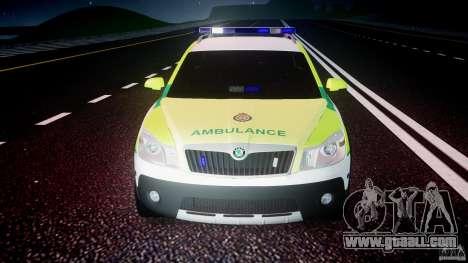 Skoda Octavia Scout Paramedic [ELS] for GTA 4 bottom view