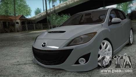 Mazda Mazdaspeed3 2010 for GTA San Andreas inner view