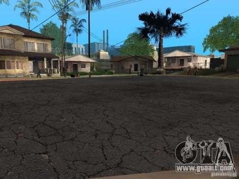 New roads on Grove Street for GTA San Andreas second screenshot