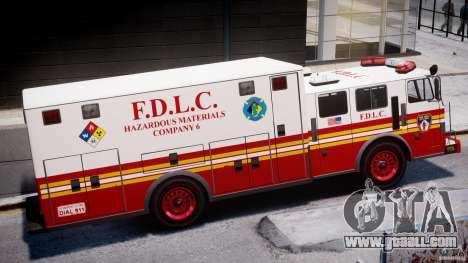 LCFD Hazmat Truck v1.3 for GTA 4 back left view