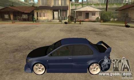 Mitsubishi Lancer 2006 Tuned for GTA San Andreas left view