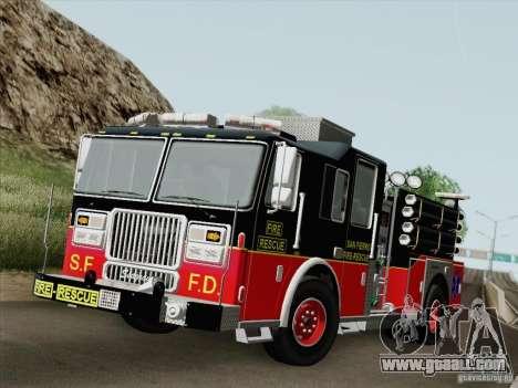 Seagrave Marauder Engine SFFD for GTA San Andreas interior