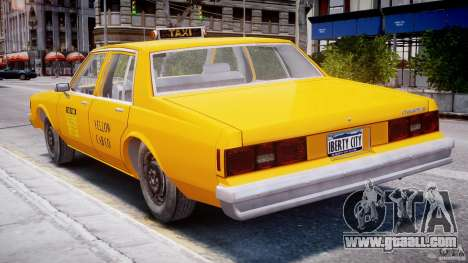 Chevrolet Impala Taxi 1983 for GTA 4 upper view