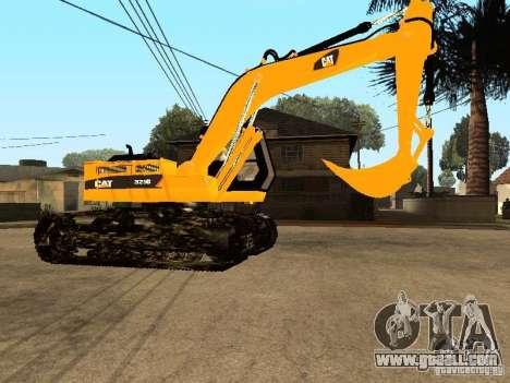 Excavator CAT for GTA San Andreas back view