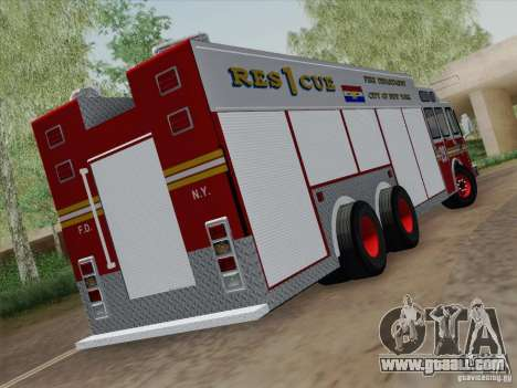 E-One F.D.N.Y Fire Rescue 1 for GTA San Andreas right view