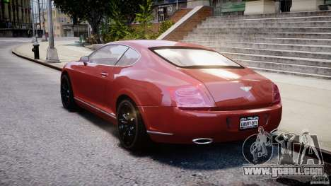 Bentley Continental GT 2004 for GTA 4 back left view