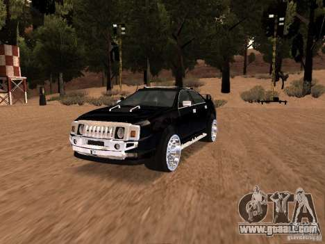Hummer H0 for GTA San Andreas back view