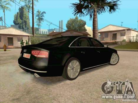 Audi A8 2010 for GTA San Andreas back view