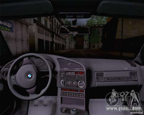 BMW M3 E36 1995 for GTA San Andreas back left view