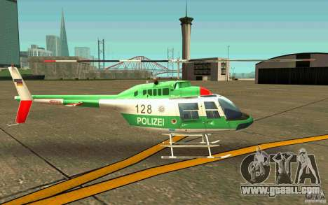 Bell 206 B Police texture3 for GTA San Andreas back left view